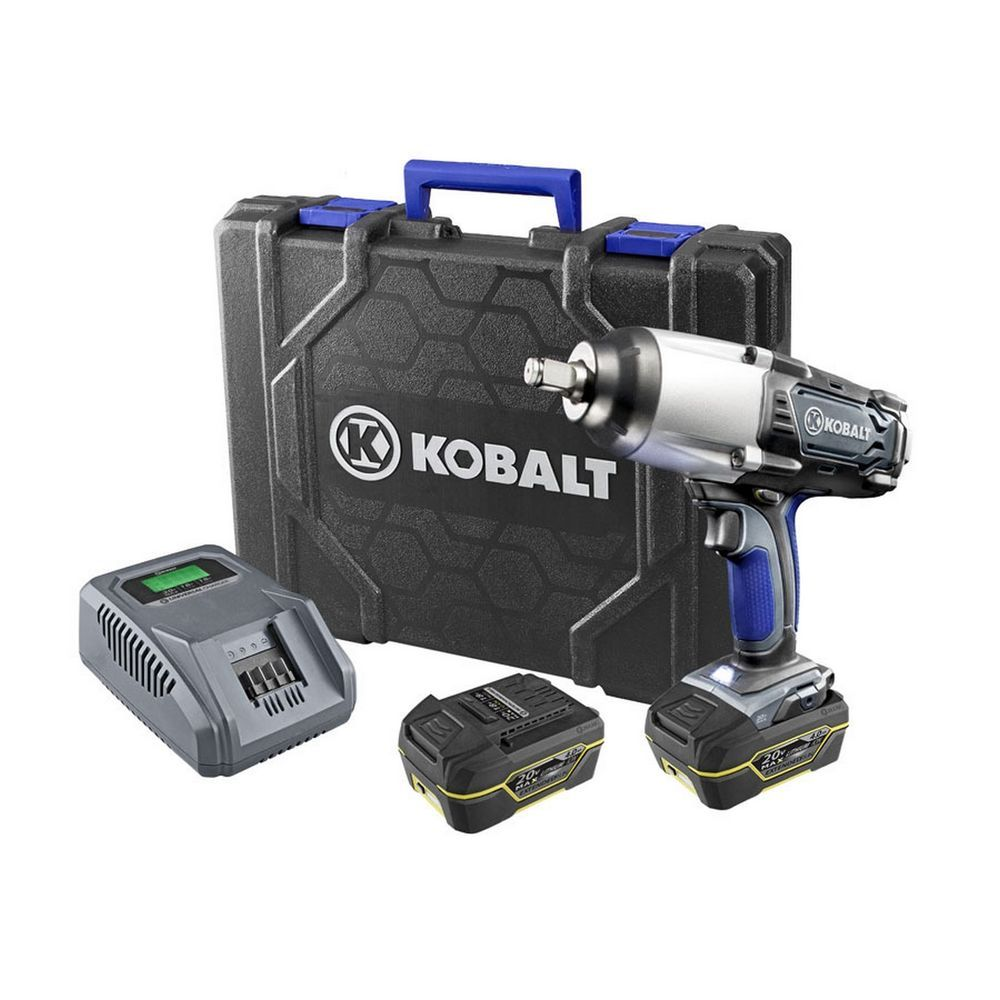 Kobalt 24-Volt 1//2-in Drive Variable Cordless Impact Wrench Kit Battery Charger