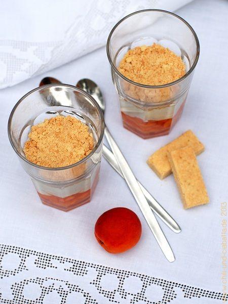 falscher aprikosen k sekuchen im glas mit shortbread desserts und anderes s es pinterest. Black Bedroom Furniture Sets. Home Design Ideas