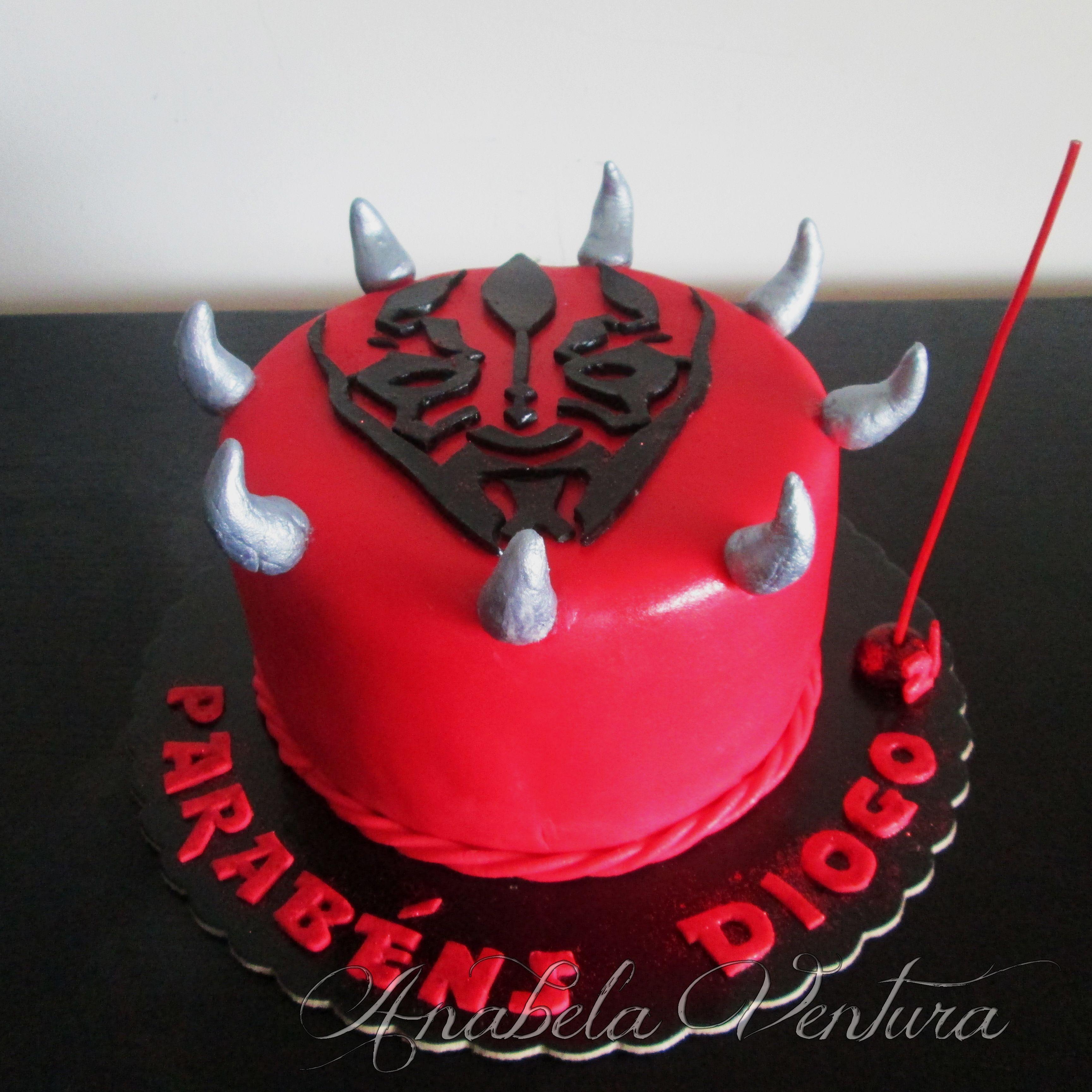 Darth Maul Cake The Boys Star Wars Party Pinterest Cake Star