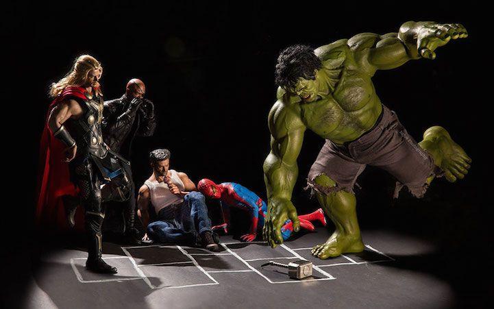 Hilarious Photos Offer a Fun Look into Secret Lives of Superhero Toys - My Modern Met