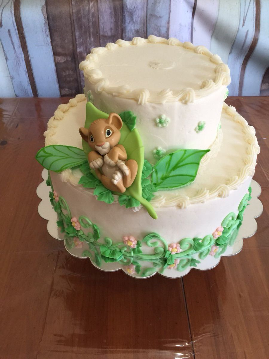 Stupendous Lion King Baby Shower Cake Greenville Sc Mysweetfavorites Funny Birthday Cards Online Chimdamsfinfo
