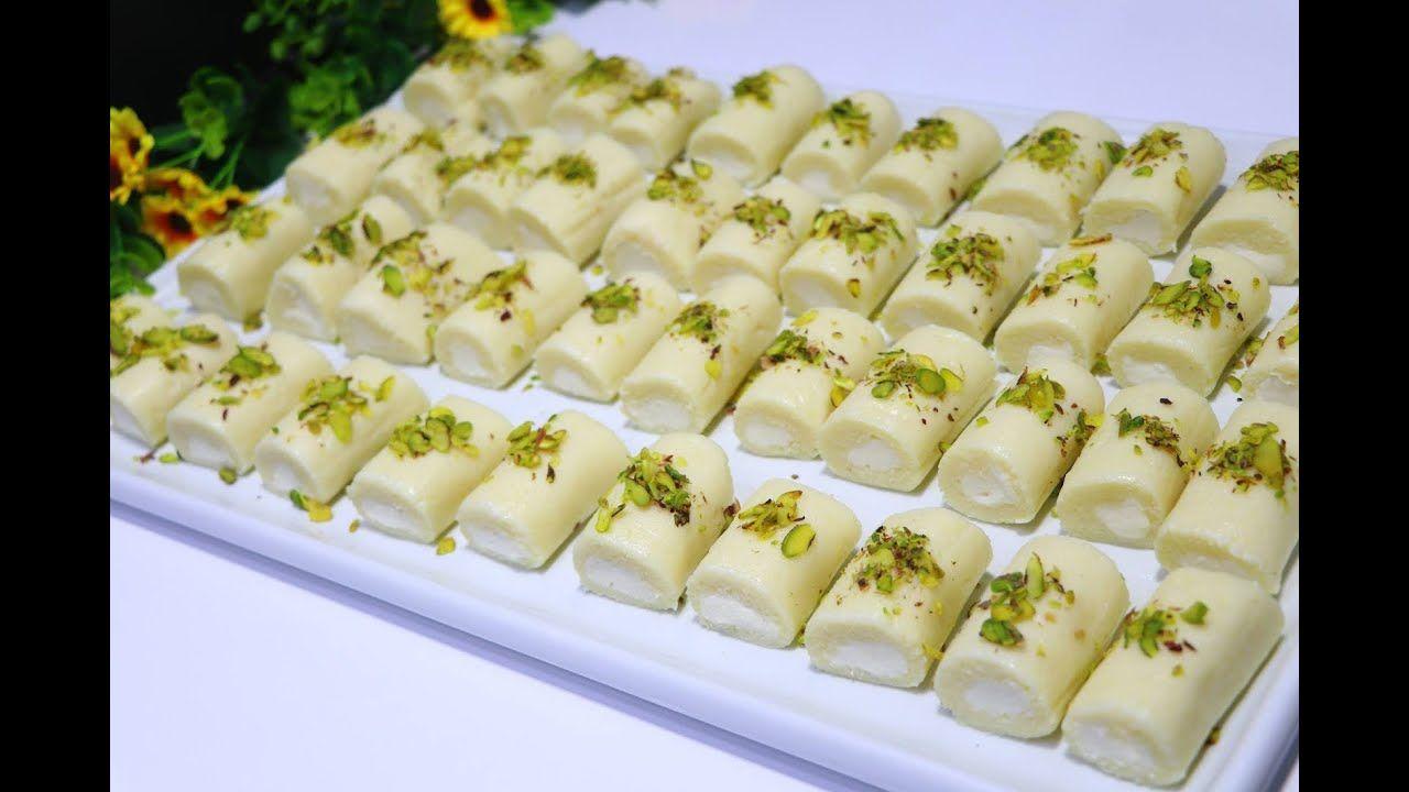 حلاوة بالجبن بالقشطة البيتية كالمحترفين عندك سميد وجبنة حضري اسهل واسرع حلويات رمضانية باردة مع رباح Youtube Desserts Cold Desserts Middle Eastern Sweets