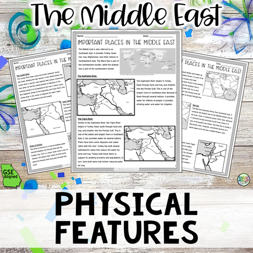 Geography in the Middle East Reading Packet (SS7G5a) in