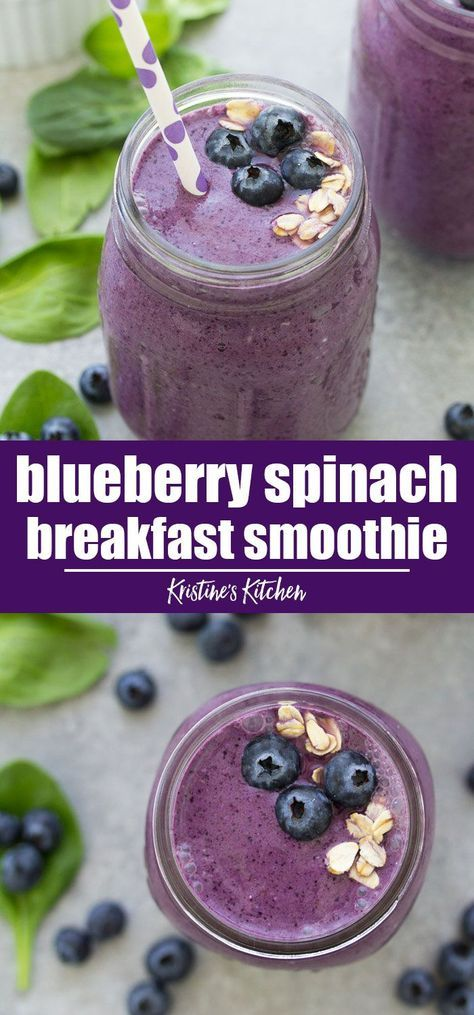 This healthy blueberry smoothie recipe is a delicious breakfast or snack! It's m…