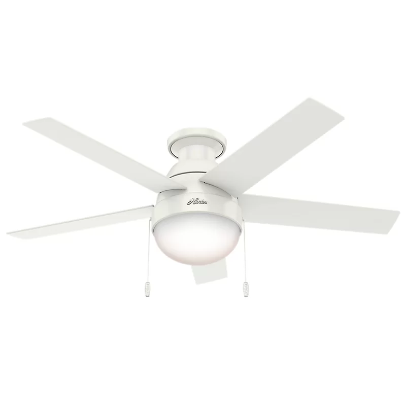 hunter fan 46 anslee 5 blade led flush mount ceiling with pull chain light kit included reviews in 2020 white 3 speed switch wire colors