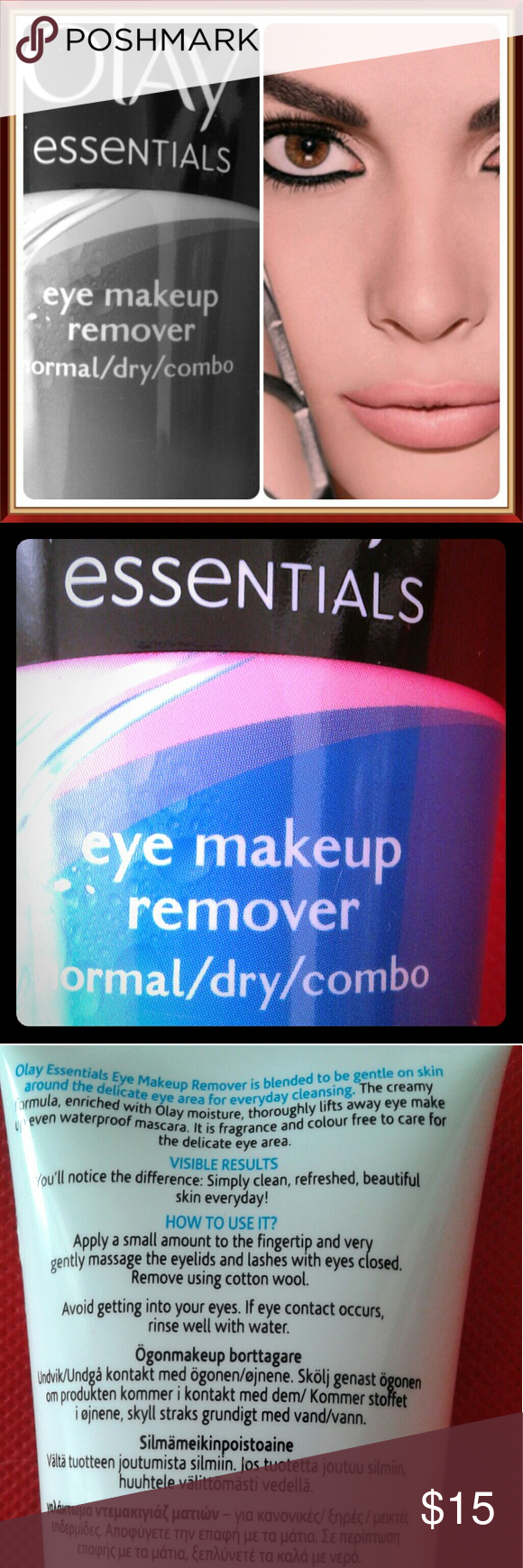 Eye Makeup Remover Olay Essentials I make up remover for