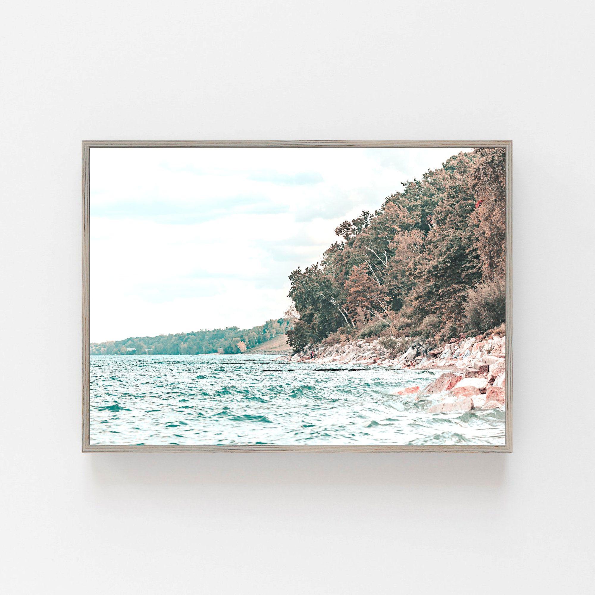 Beach Print Lake Michigan Print Digital Download Beach Etsy Beach Print Beach Wall Art Beach Photography