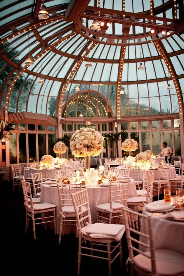 The Palm House at Brooklyn Botanic Garden Wedding by