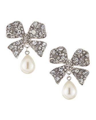 Kenneth Jay Lane Crystal Bow Ribbon Pin Silver/ruby/crystal fYz1GxK7j2