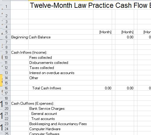 Law Firm Budget Template Excel   Excel    Budgeting