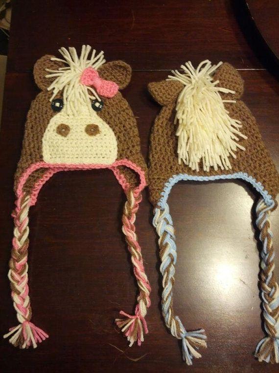 Pferd-Hut häkeln | Häkel- Liebe | Pinterest | Hut häkeln, Hüte und ...