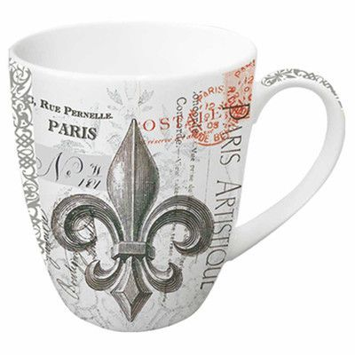 Paperproducts Design Fleur De Lys 14 oz. Mug