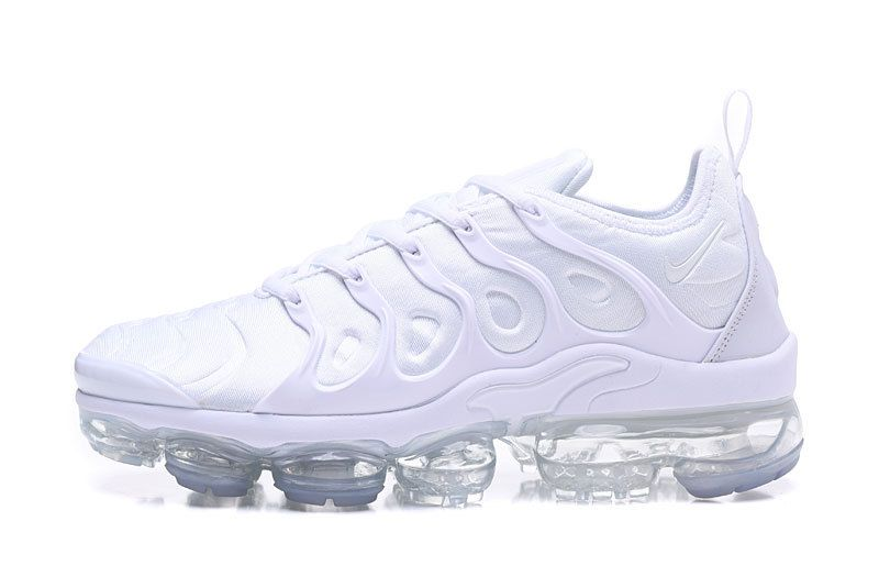 6a7e35f091b Nike Air Vapormax Plus 2018 TN All White Men Shoes