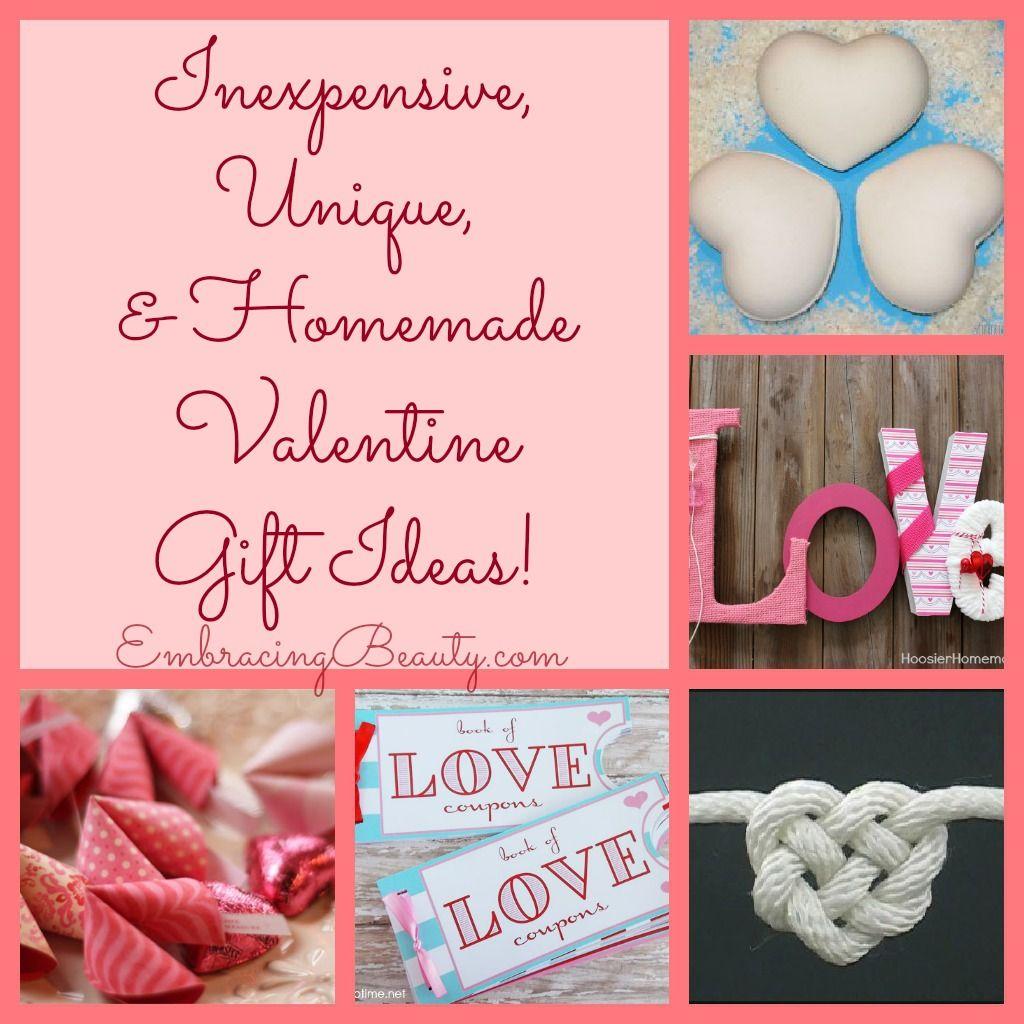 inexpensive, unique, & homemade valentine gift ideas! | homemade