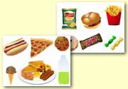 Storyboard / Cut & Stick Resources - Unhealthy Food