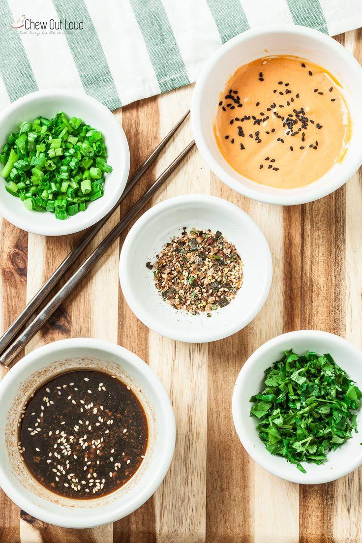 Healthy poke bowls with sriracha mayo chew out loud