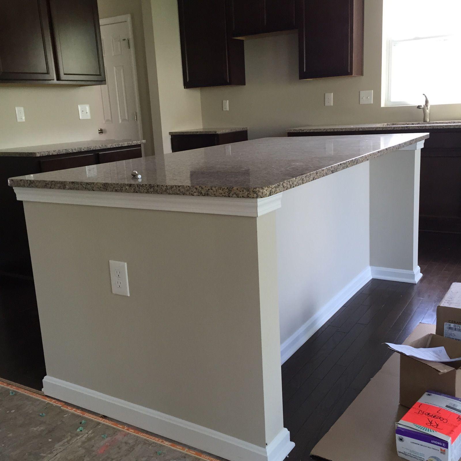 Drywall Wrap Island In A Standard Kitchen Kitchen Island Cabinets Woodworking Plans Kitchen Kitchen Island