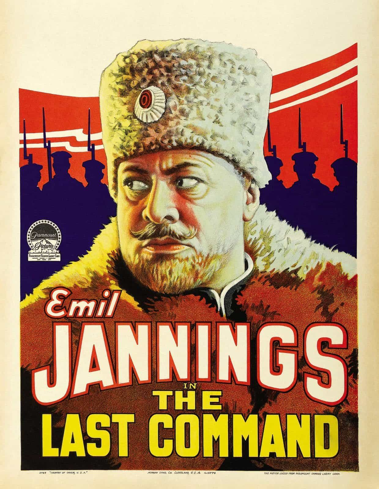 Vintage War Movie Poster The Last Command, 1928 | Classic movie ...