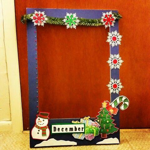 Diy Photo Booth Frame Navidad Pinterest Christmas Photo