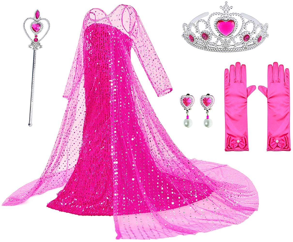 Luxury Princess Dress For Aurora Costumes With Shining Long Cap Girls Birthday Party 5t 6t Princess Dress Disney Princess Dress Up Disney Princess Dresses [ 1000 x 1211 Pixel ]