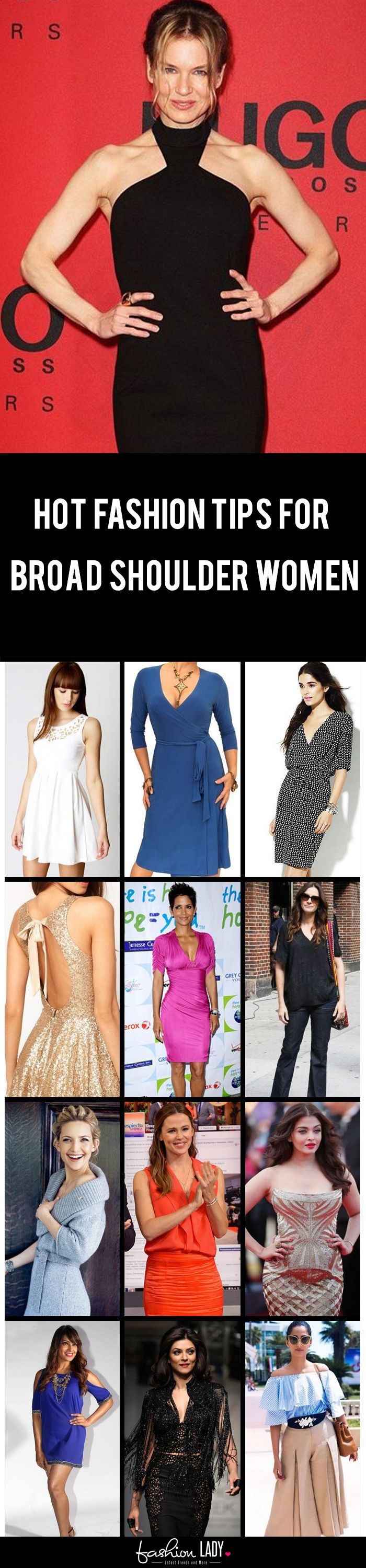 a6ad4c1b81b0 22 Fashion Tips for Broad Shoulder Women - How To Reduce Broad ...