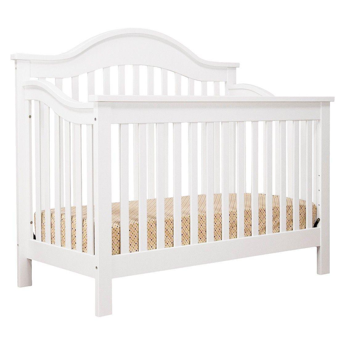 DaVinci Jayden 4 in 1 Crib with Toddler Rail - White