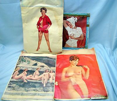 Group nude pin up