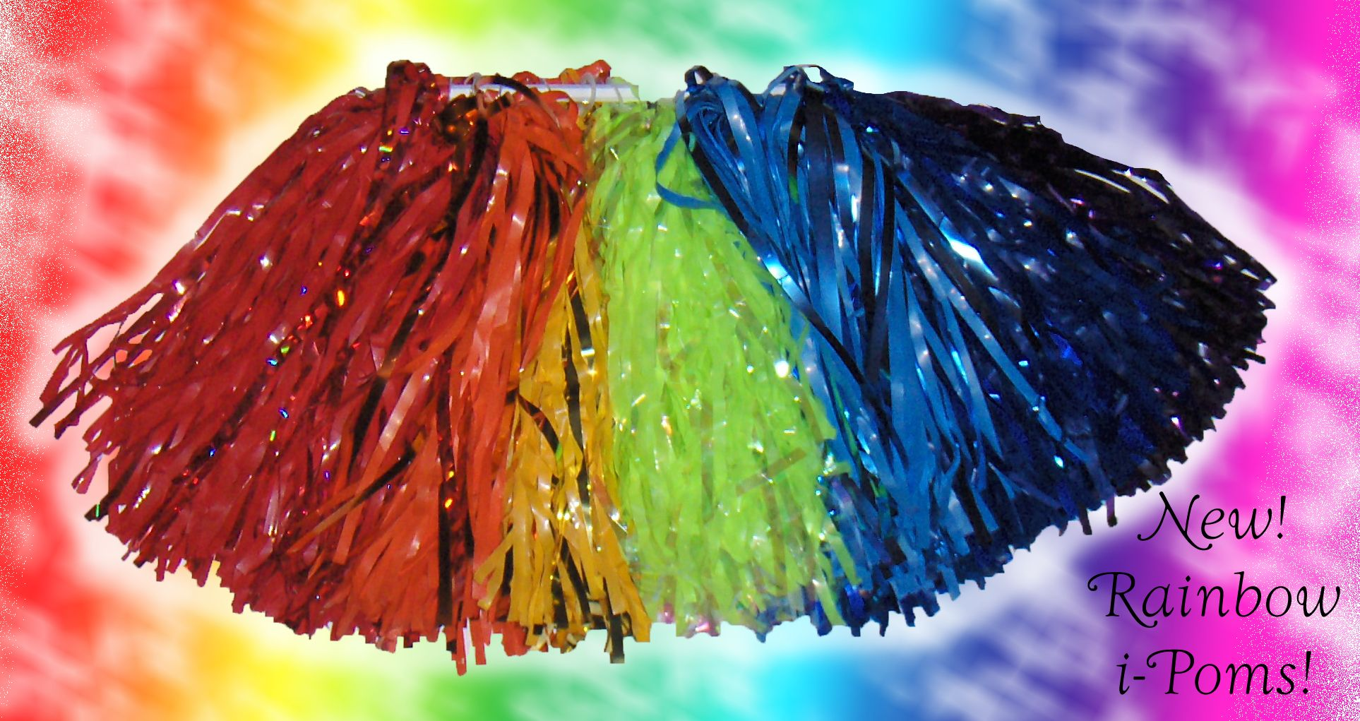 The Only Rainbow Pom On The Market 7 Colors With Accents Of Metallic Just Wow Pom Pom Rainbow Tie Dye