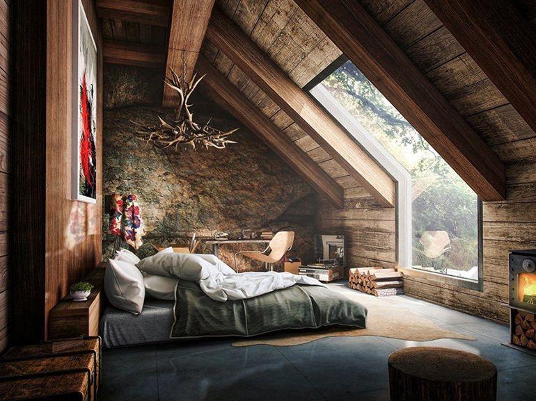 Camera Da Letto Da Sogno : Chalet da sogno interni di montagna camera letto ispirazione