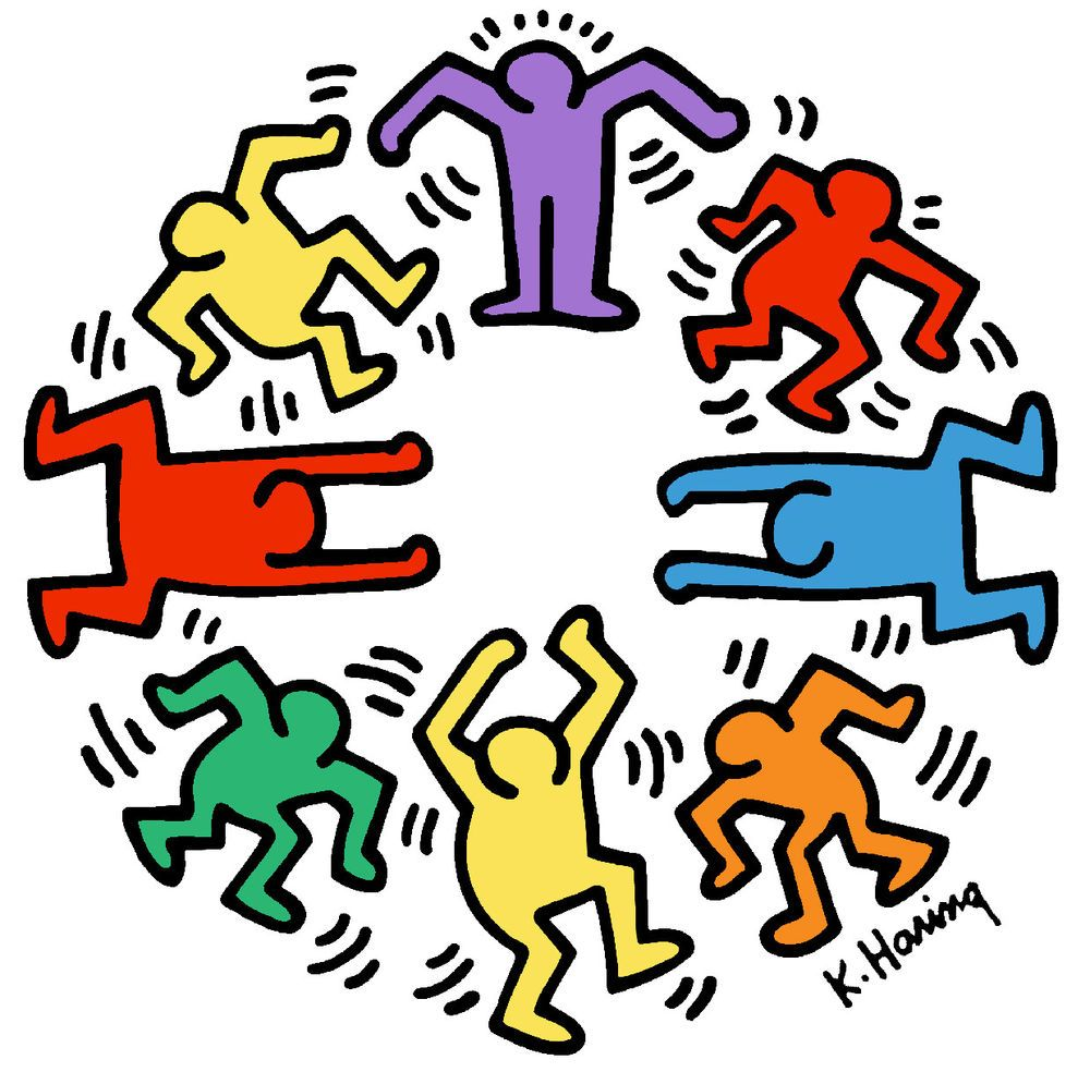 c9adcc3c Keith Haring CIRCLE OF MEN Dance 16x16 Giclee Pop Art Print #PopArt #keith # keithharing
