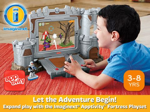 Imaginext Apptivity Fortress toy review Kids app, And so