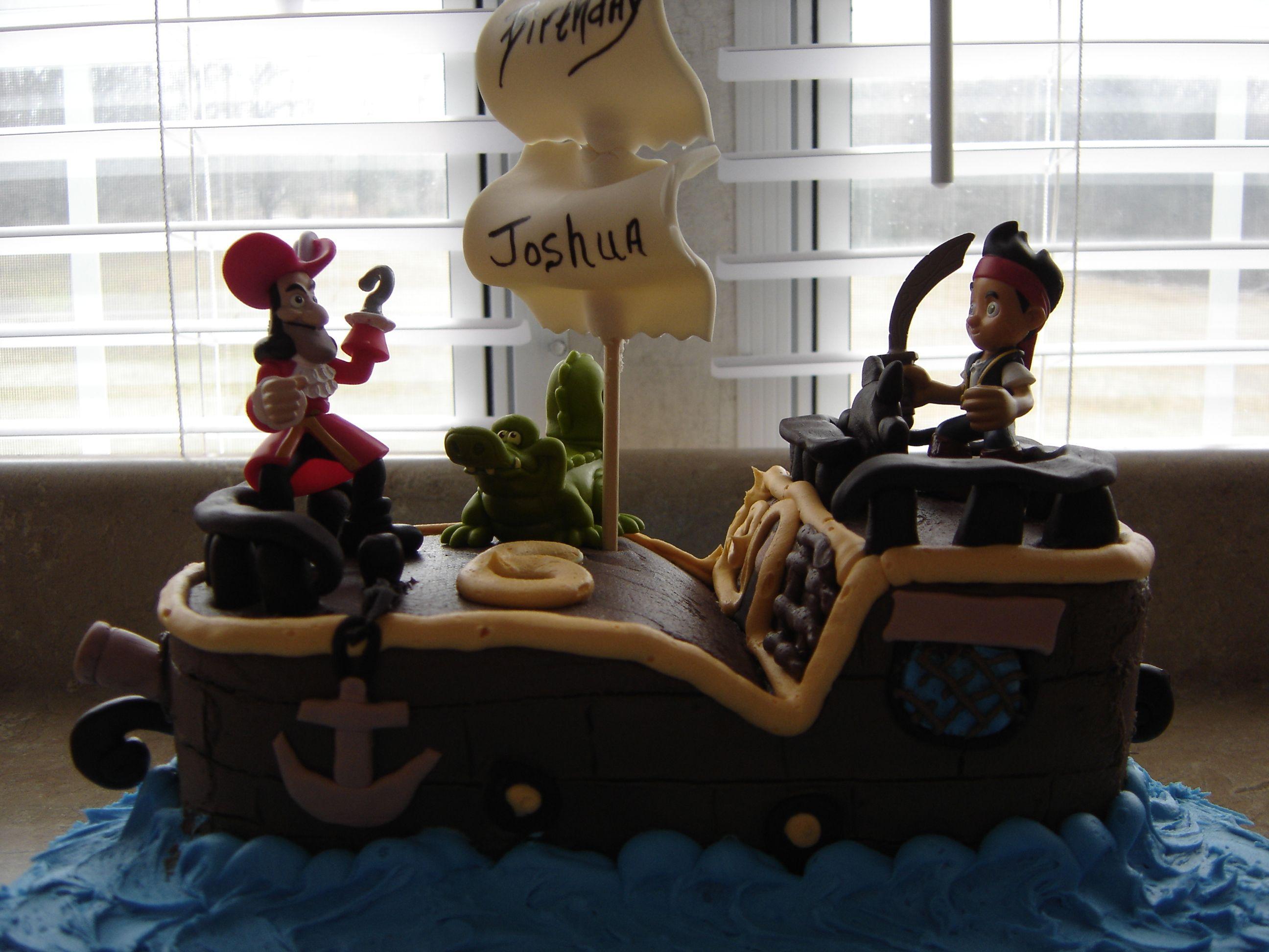 pirate ship birthday cake Janices Cake Creations Pinterest