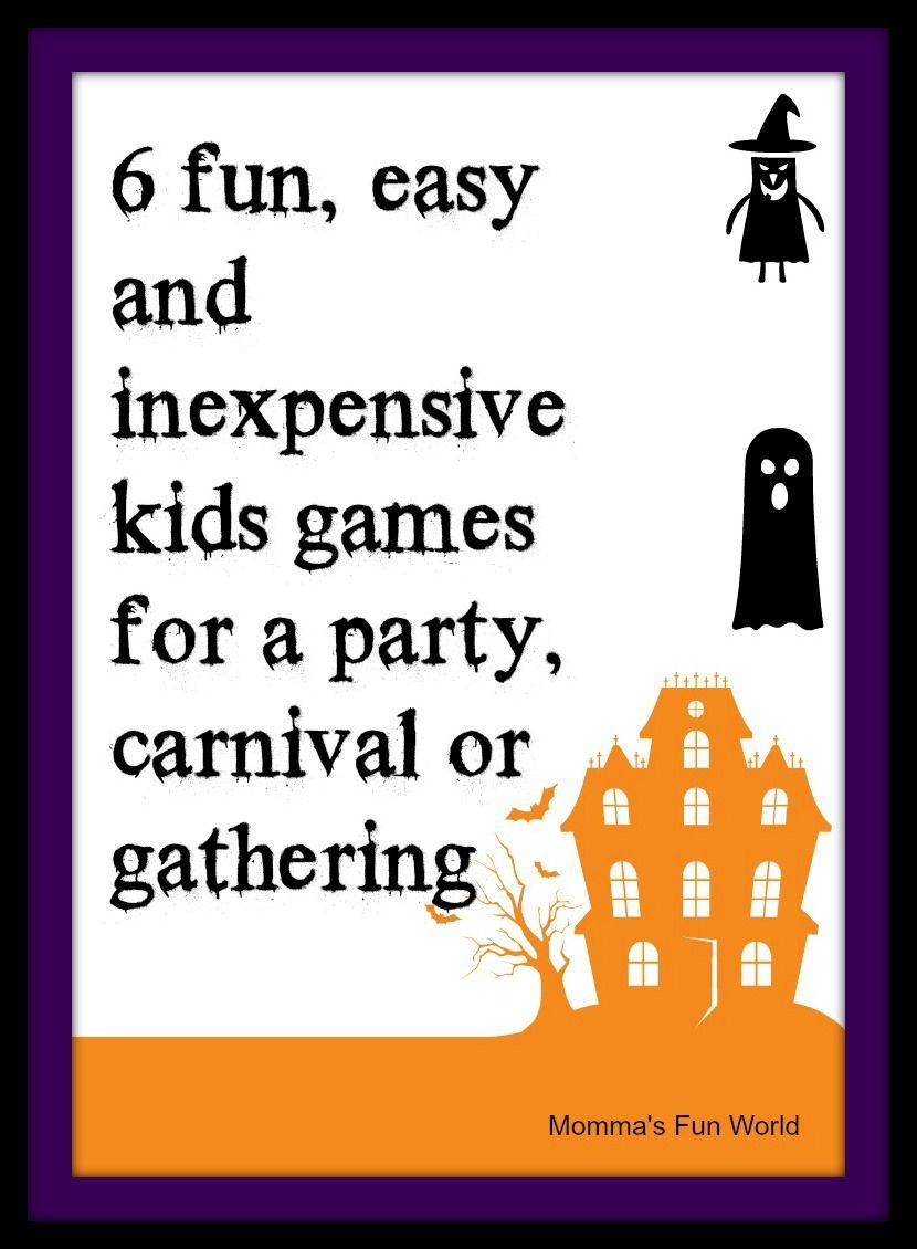 Momma's Fun World: Fun games for Kids Halloween party   HALLOWEEN ...