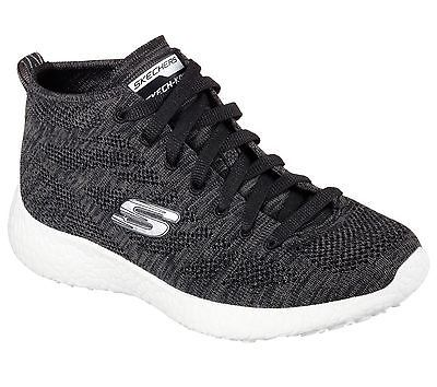 Skechers Burst Divergent Womens 12730-BKW Black White Training Sneakers  Size 6.5