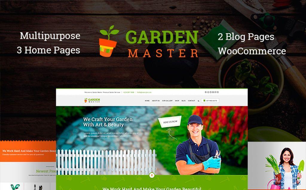 Garden Master Gardening Website Template 76383 Website