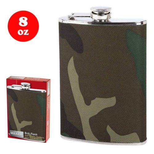 8oz-liquor-Flask-hunter-039-s-flask-for-spirits-camouflage-wrap-pocket-flasks-new