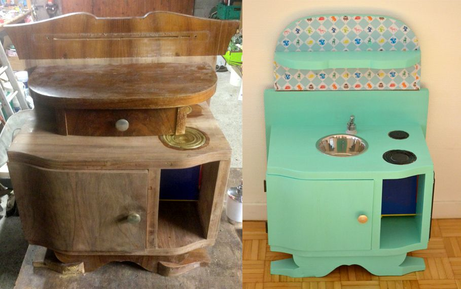 DIY Récup' : Fabriquer une cuisine en bois enfant Blog