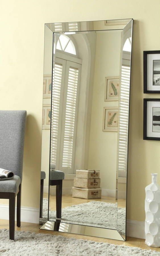 Coaster Furniture Silver Glass Leaning and Floor Mirror | Floor ...