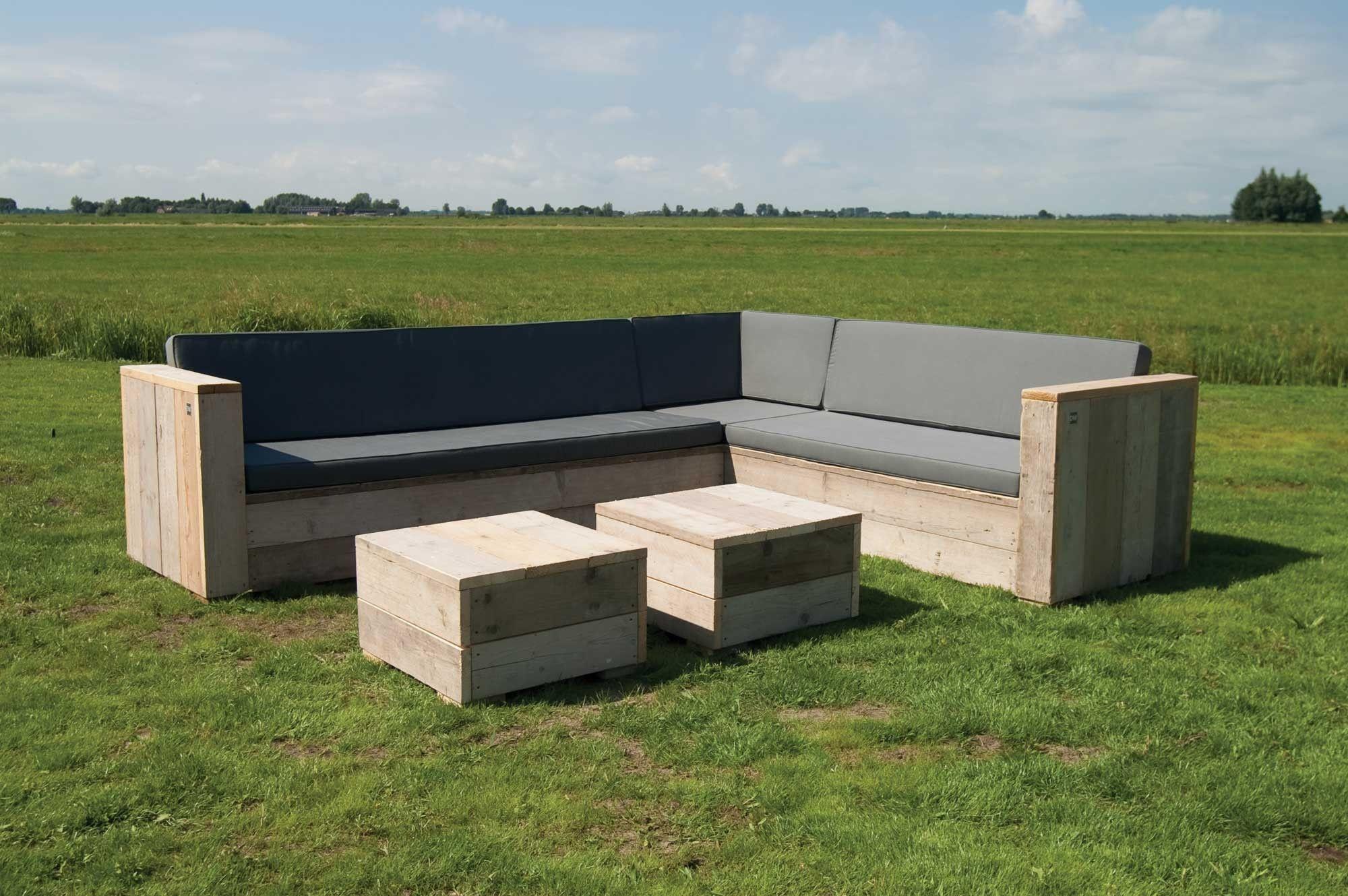 Gartenmöbel Set Holz Lounge ~ Gartenset eckbank aus unbehandeltem gerüstholz mit tisch