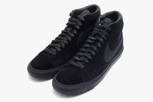 BLACK COMME des GARCONS x Nike Blazer High Premium CDG SP ...
