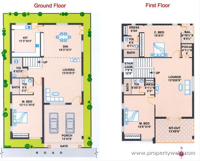 South Facing House Vastu Plan 20 X 60 South Facing House House Plans North Facing House