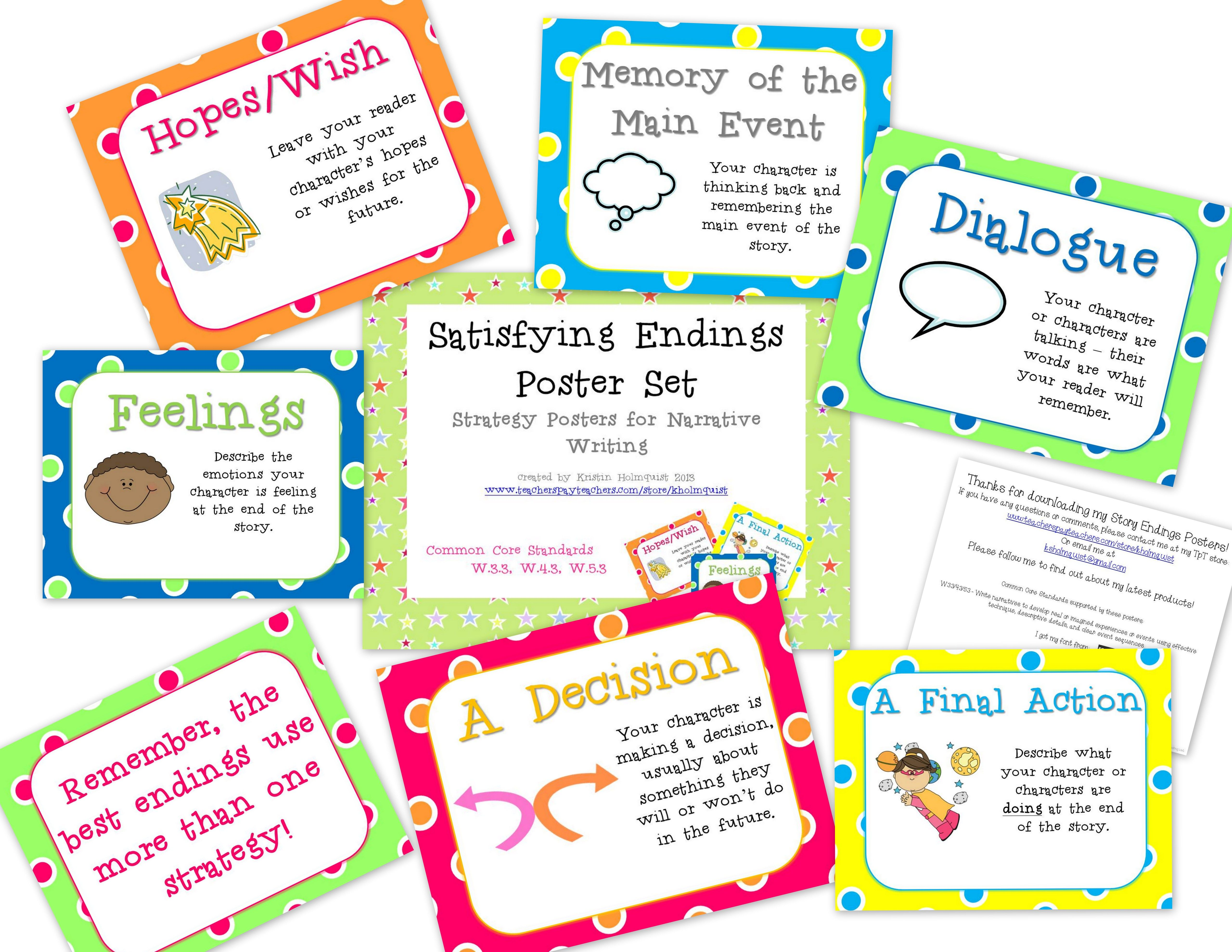 These Posters Will Help Your Readers Revise Their Story Endings No More The End Writing Instruction Writing Lessons Teaching Writing