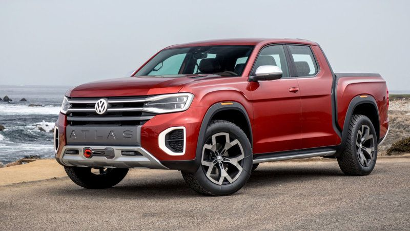 Vw Atlas Tanoak Pickup Concept First Drive Review Rooted In Reality Pickup Trucks Classic Pickup Trucks Lifted Trucks