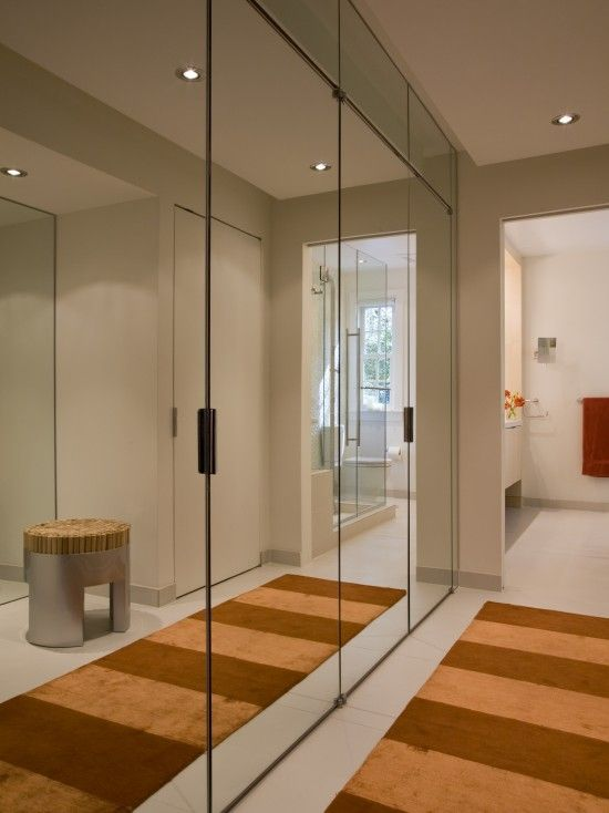 Modern Closet Design. Mirrors. #Wardrobes #Closet #Armoire Storage