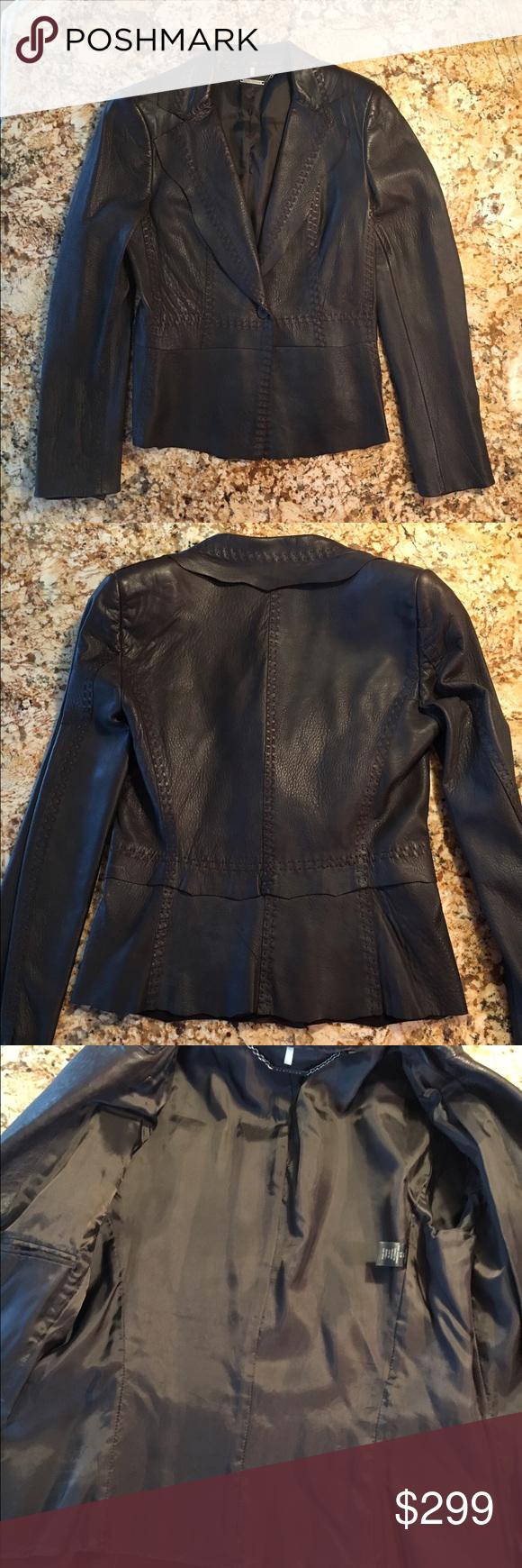 Ellie Tahari Leather Jacket Leather Jacket Clothes Design Elie Tahari Jacket [ 1740 x 580 Pixel ]