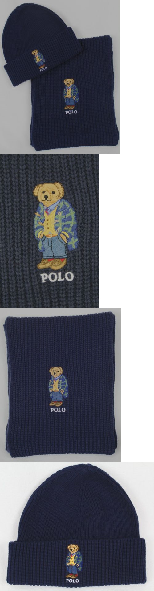 969ffd8e3da54 Scarves 52382  Polo Ralph Lauren Collectable Navy Blue Teddy Bear Scarf  Beanie Hat Set Nwt -  BUY IT NOW ONLY   118.99 on eBay!