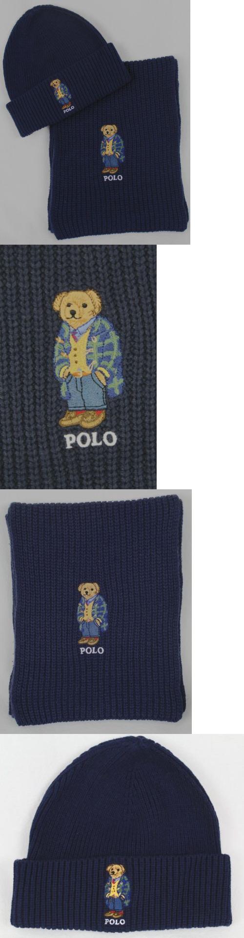 969ffd8e3da54 Scarves 52382  Polo Ralph Lauren Collectable Navy Blue Teddy Bear Scarf  Beanie Hat Set Nwt -  BUY IT NOW ONLY   118.99 on eBay!