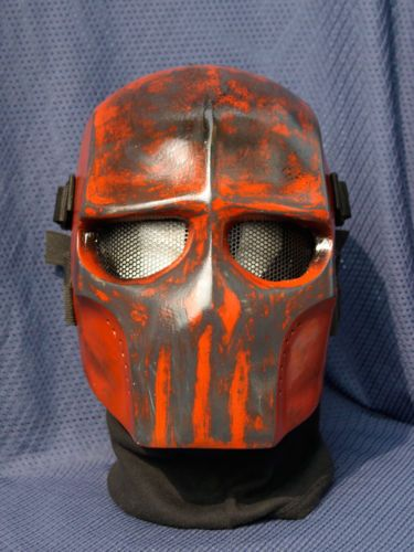 Army Of Two V2 Red Skull Airsoft Mask Made To Order With Images