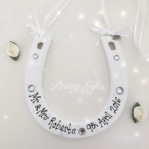 2859209e68d Personalised Ceramic Lucky Horseshoe Wedding Gift, £11.00 Rustic Wedding  Gifts, Handmade Wedding,