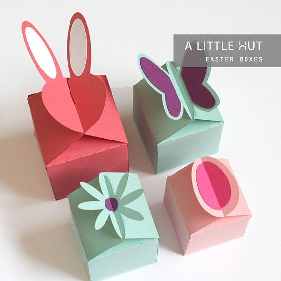 Easter boxes - SVG, DXF & PDF files